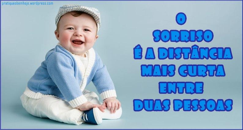 O sorriso é a distância mais curta entre duas pessoas
