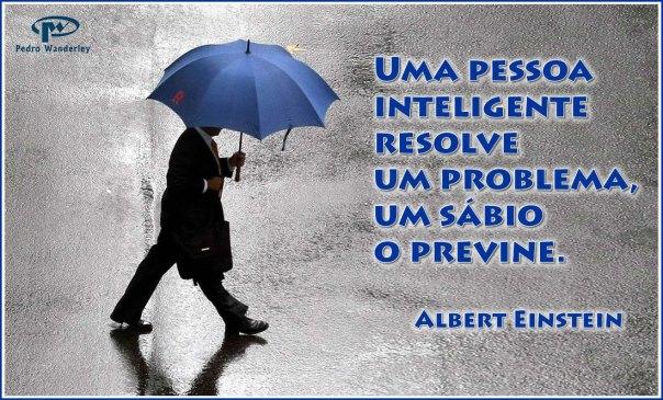 Uma pessoa inteligente resolve um problema, um sábio o previne