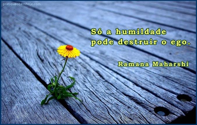 Só a humildade pode destruir o ego
