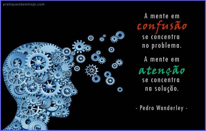A mente em confusão se concentra no problema