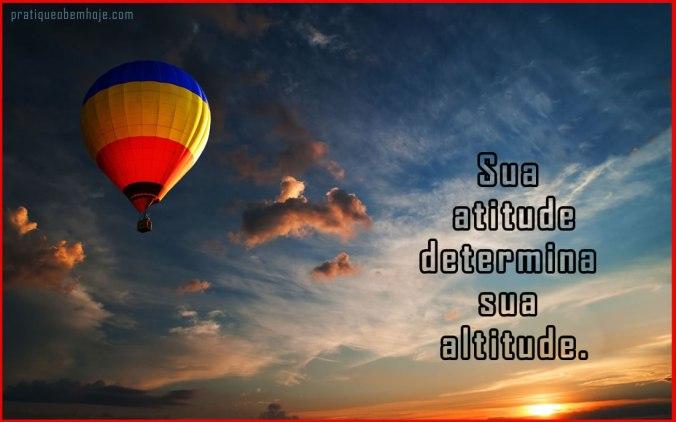 Sua atitude determina sua altitude