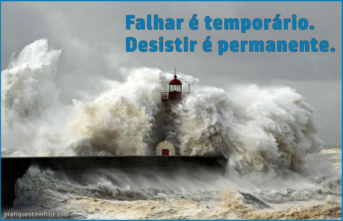 Falhar é temporário