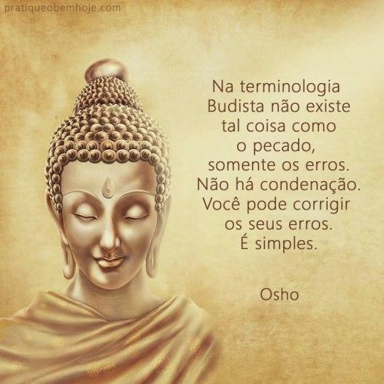 Na terminologia budista não existe tal coisa como o pecado