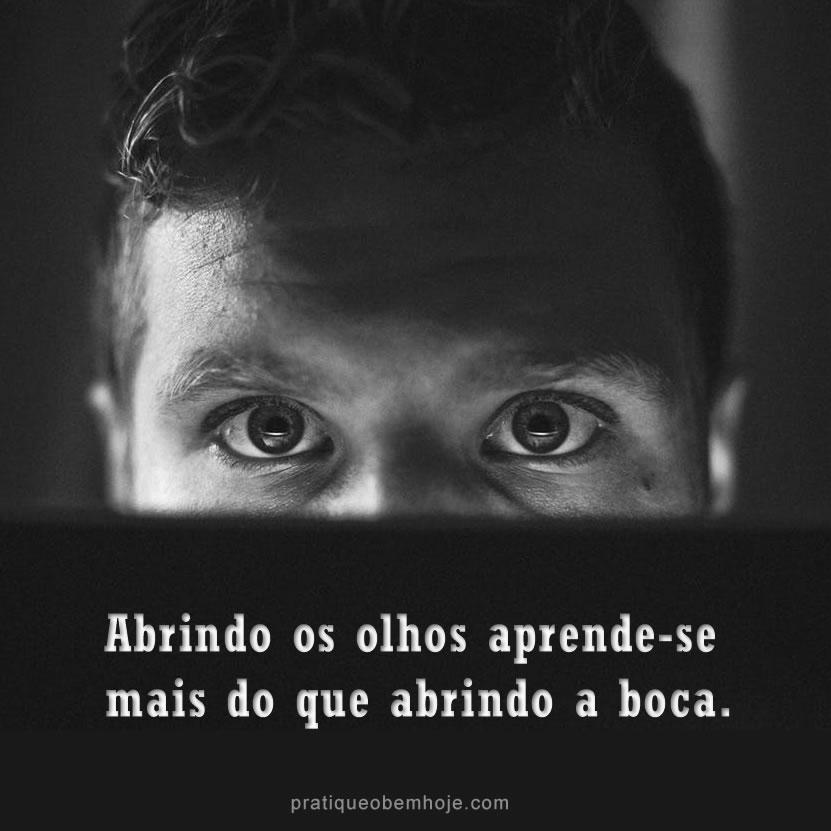 Abrindo os olhos