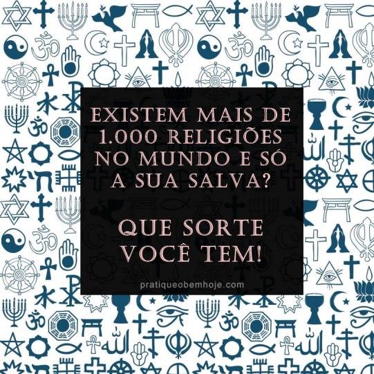 Existem mais de 1000 religiões no mundo