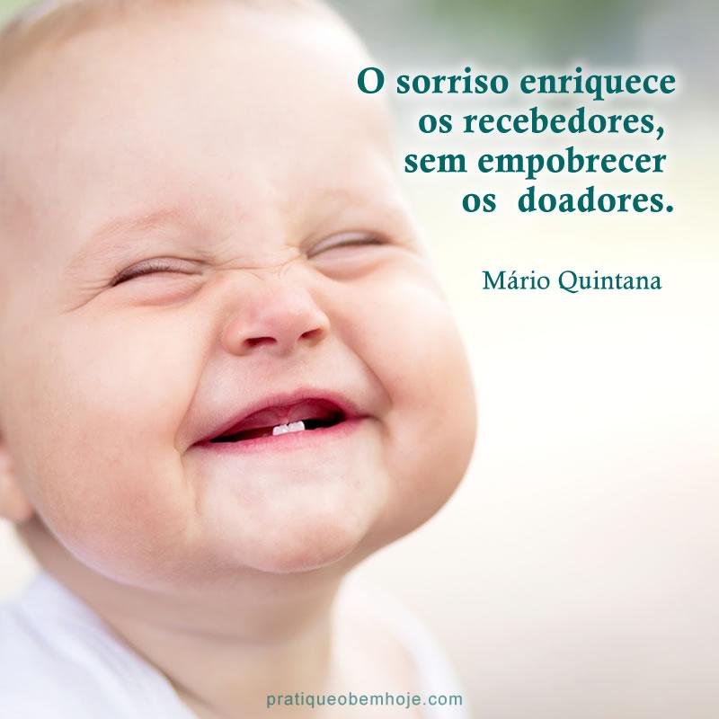 O sorriso enriquece os recebedores
