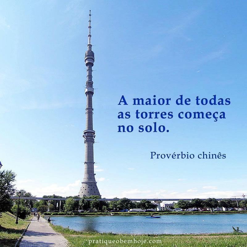 A maior de todas as torres começa no solo