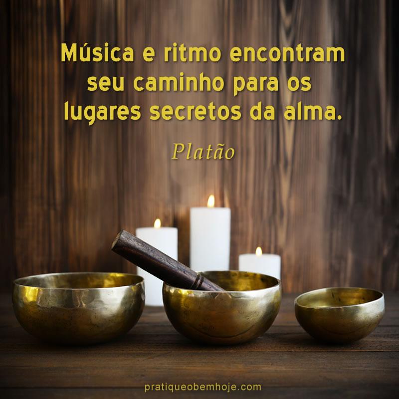 Música e ritmo encontram seu caminho para os lugares secretos da alma