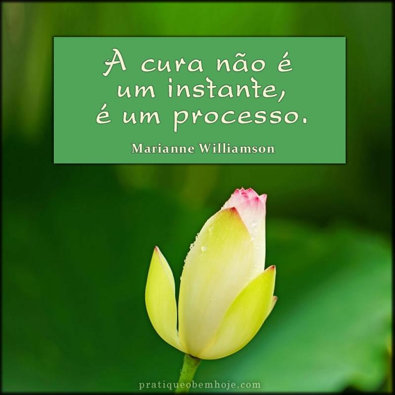 A cura não é um instante, é um processo