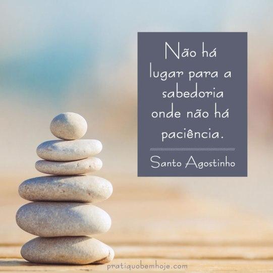 Não há lugar para a sabedoria onde não há paciência