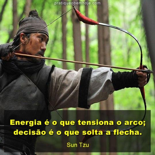 Energia é o que tensiona o arco
