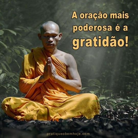 A oração mais poderosa é a gratidão