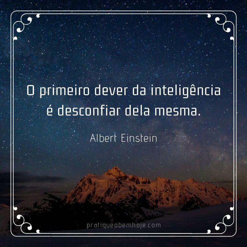 O primeiro dever da inteligência