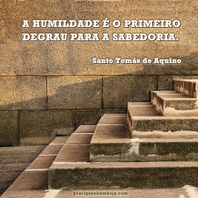 A humildade é o primeiro degrau para a sabedoria